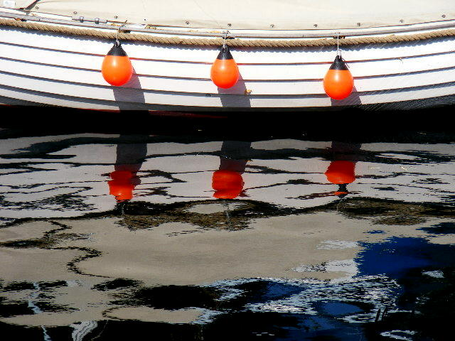 "photo ""Boat and reflection."" tags: reporting,"