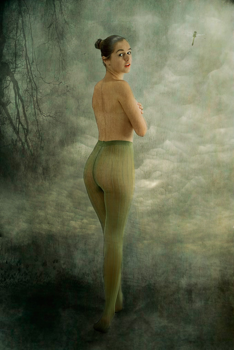 "фото ""Green tights"" метки: ню,"
