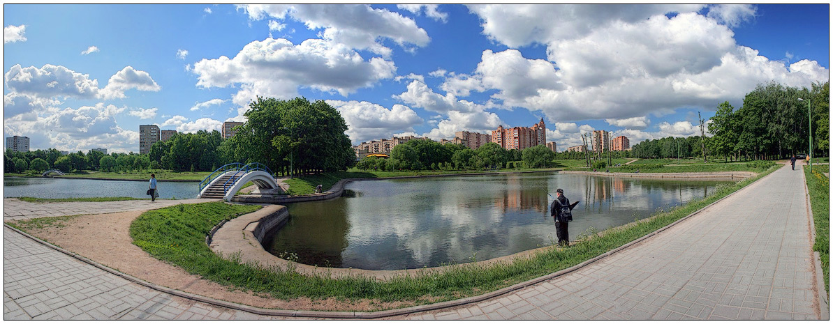 "photo ""Urban fishing"" tags: city, panoramic,"