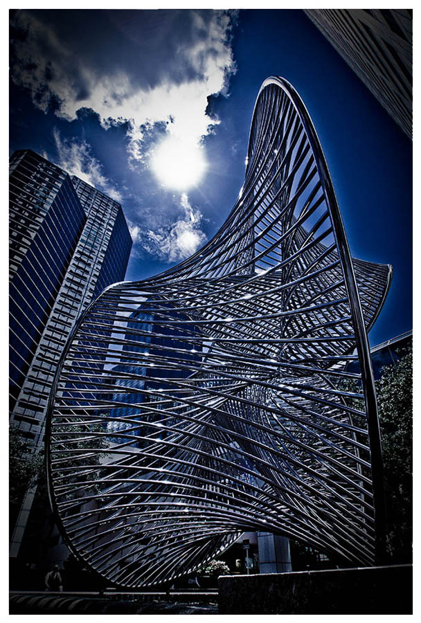 "фото ""City heat blue"" метки: город,"