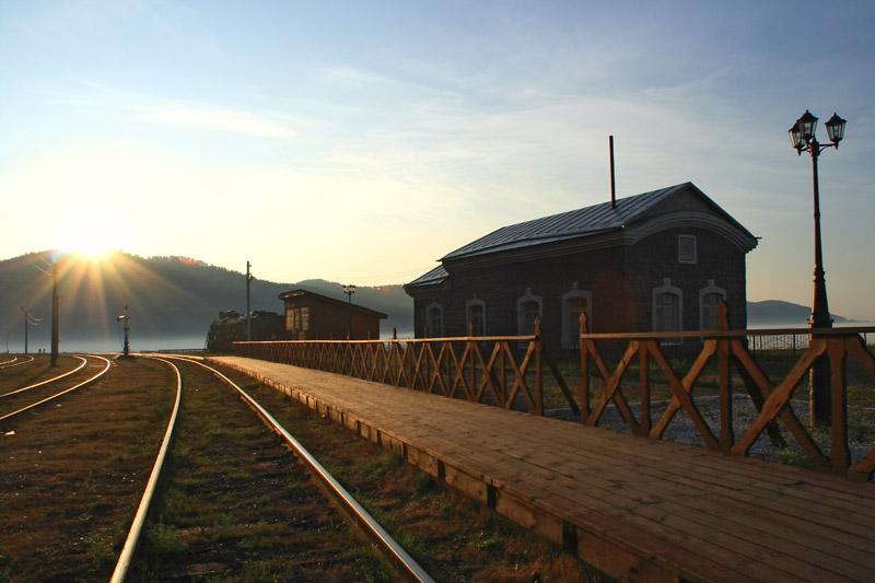 """фото """"станция порт Байкал"""" метки: пейзаж, закат"""