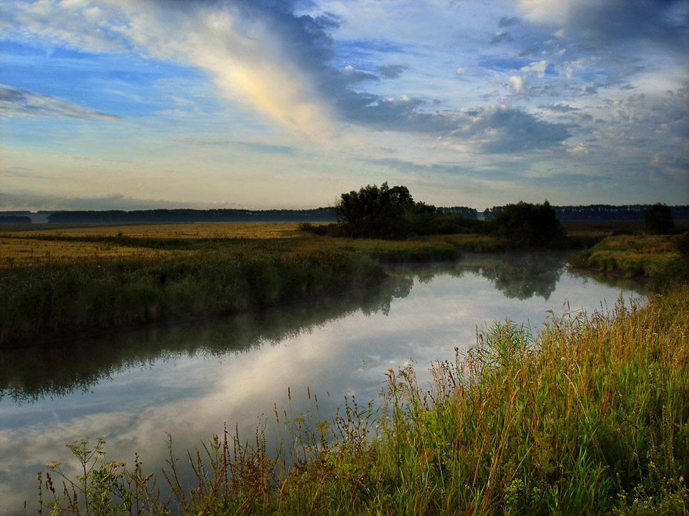 """фото """"Августовский рассвет"""" метки: пейзаж, лето"""