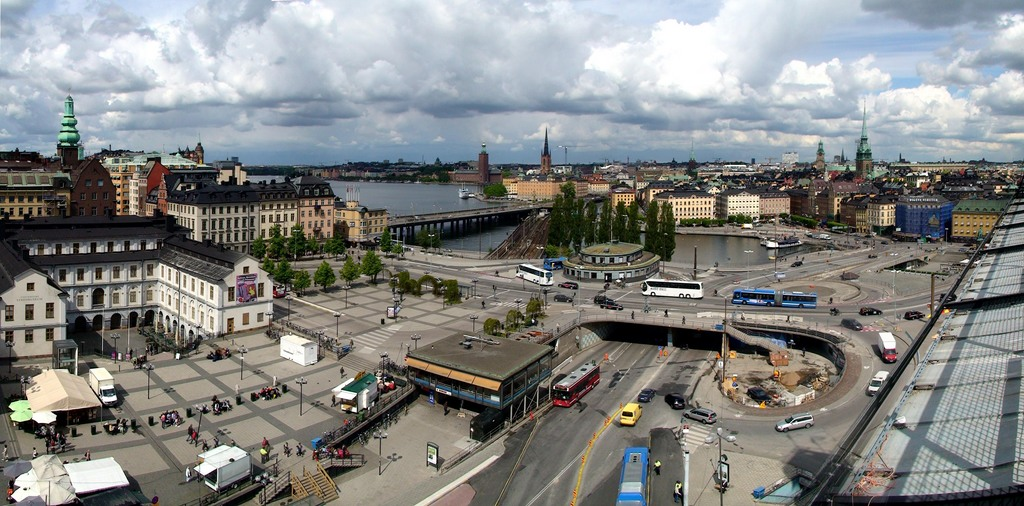"photo ""View of Stockholm from a Katarina-lift platform"" tags: panoramic, travel, Europe"
