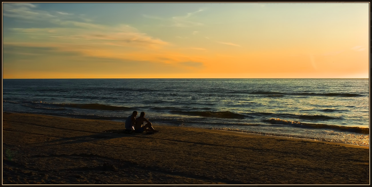 """photo """"Slow conversation"""" tags: landscape, sunset"""