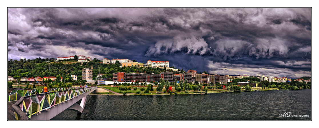 "photo ""storm over the city"" tags: landscape, panoramic,"