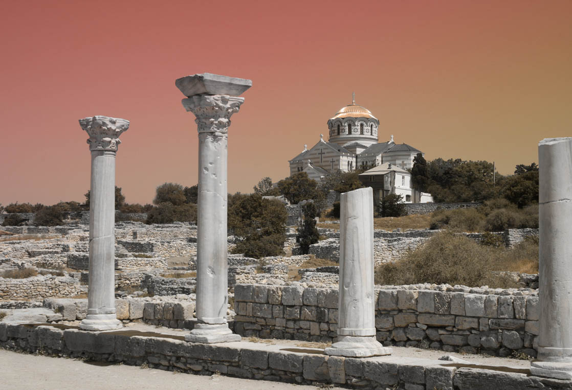 "photo ""The Chersonese"" tags: architecture, landscape,"
