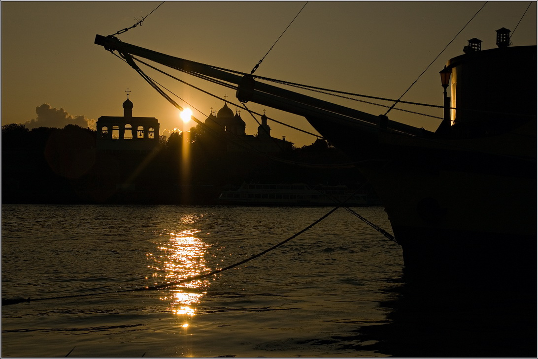 "фото ""Закат над Волховом"" метки: пейзаж, закат"