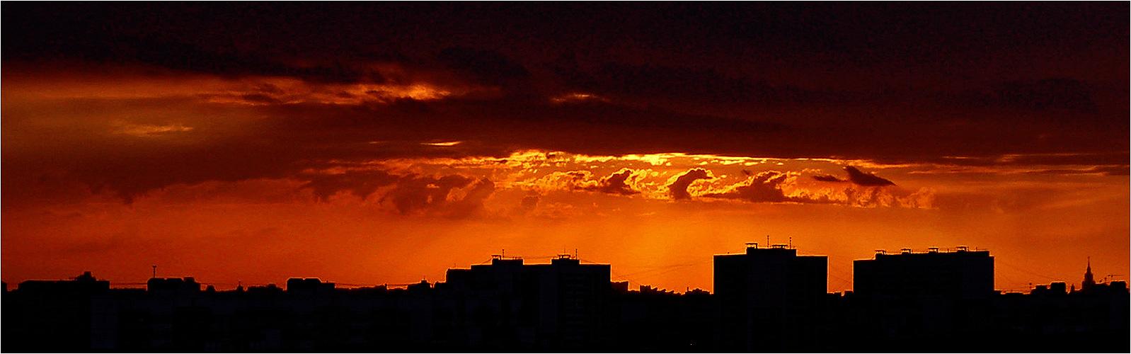 """фото """"закат в Марьино"""" метки: пейзаж, закат, облака"""