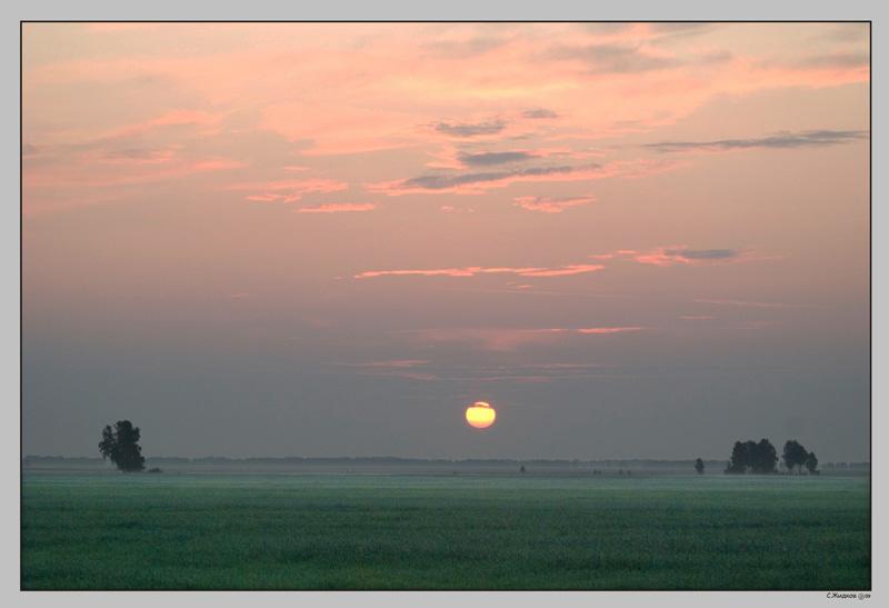 """фото """"июль_утро"""" метки: пейзаж, закат"""