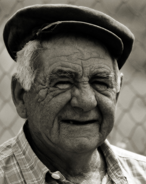 "photo ""Age"" tags: portrait, black&white, man"