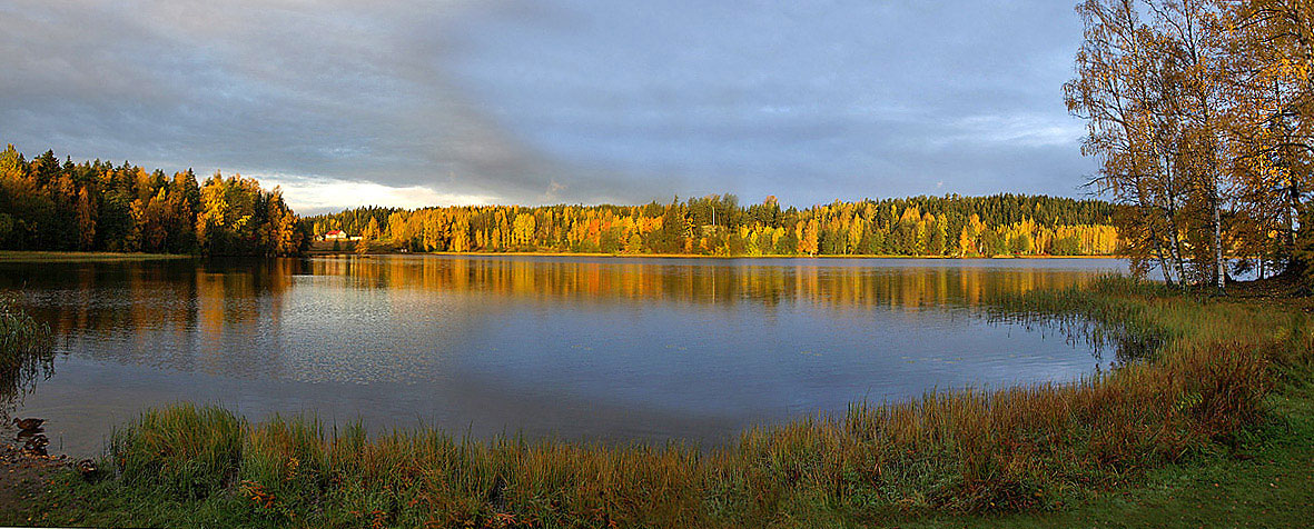 "photo ""Autumn colors of Suomi."" tags: landscape, water"