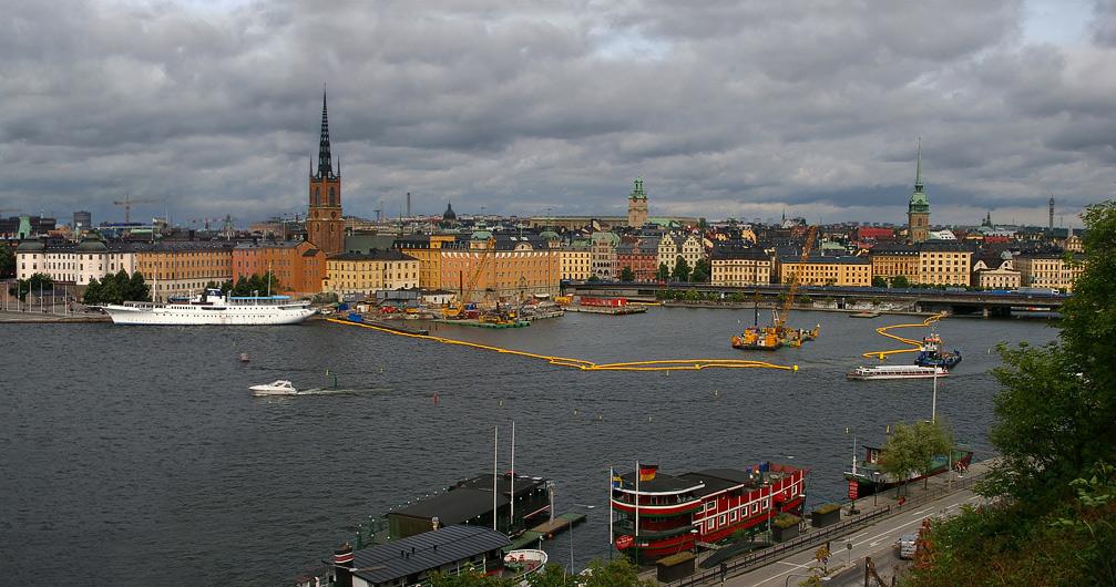"""фото """"Стокгольм. Вид со смотровой площадки о. Седермальме"""" метки: путешествия, архитектура, пейзаж, Европа"""