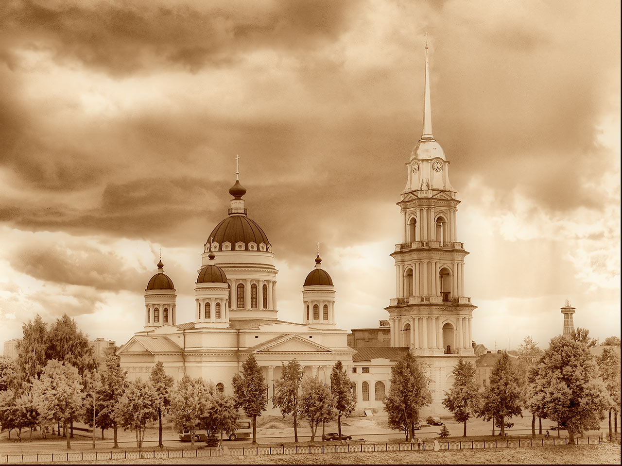 "photo ""Spaso-Preobragensky Cathedral in Rybinsk"" tags: architecture, city, landscape,"