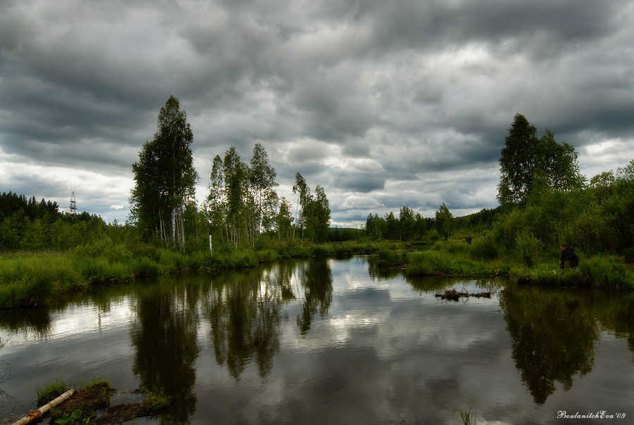 "photo ""Scheetovskoy istok, river"" tags: landscape, clouds, water"