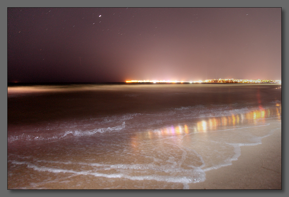 "photo ""The waves"" tags: landscape, night, water"