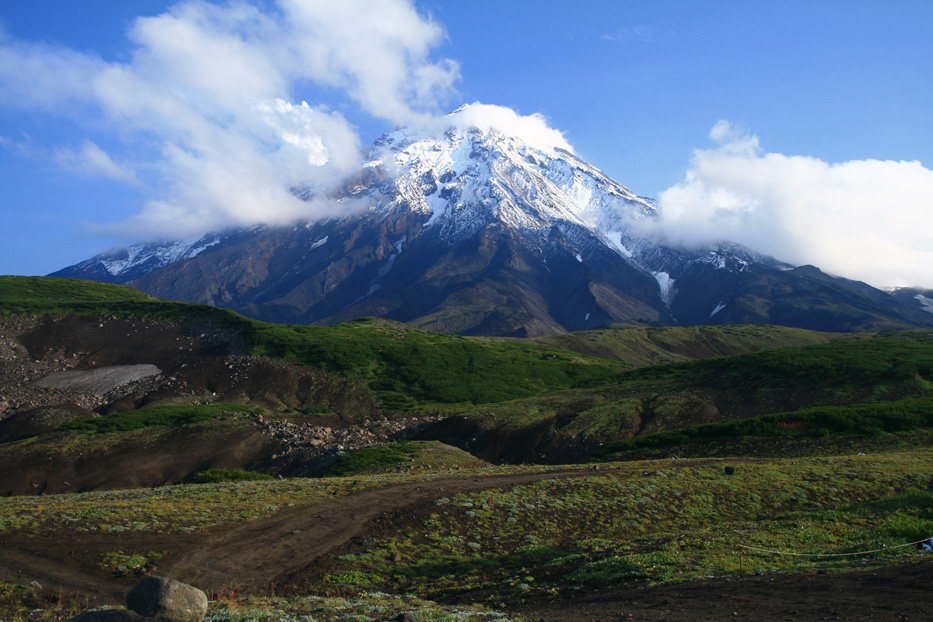 "photo ""Kamchatka. Koryaksky volcano"" tags: landscape, travel, Asia, mountains"