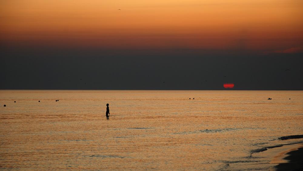 "фото ""Вечериний минимум"" метки: пейзаж, вода, закат"