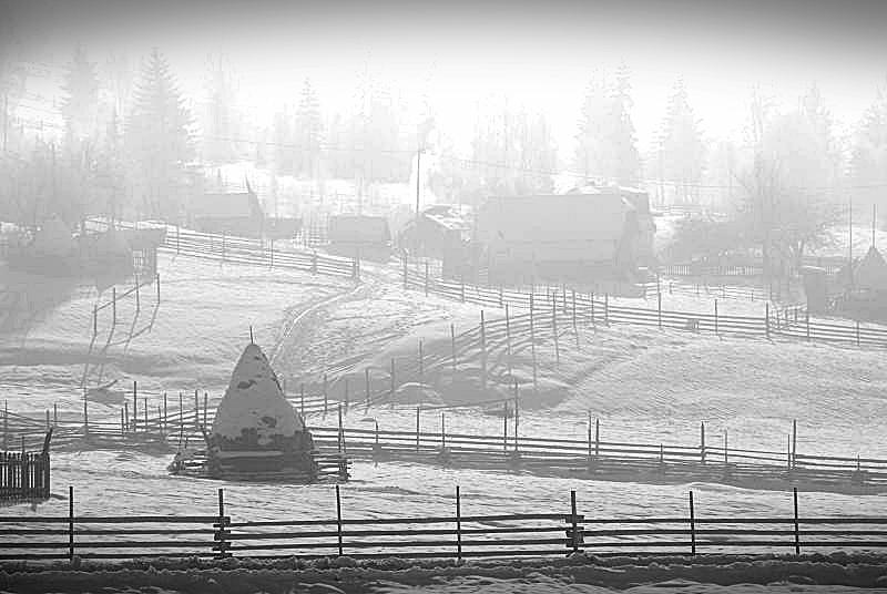 """фото """"Хуторок"""" метки: пейзаж, зима"""