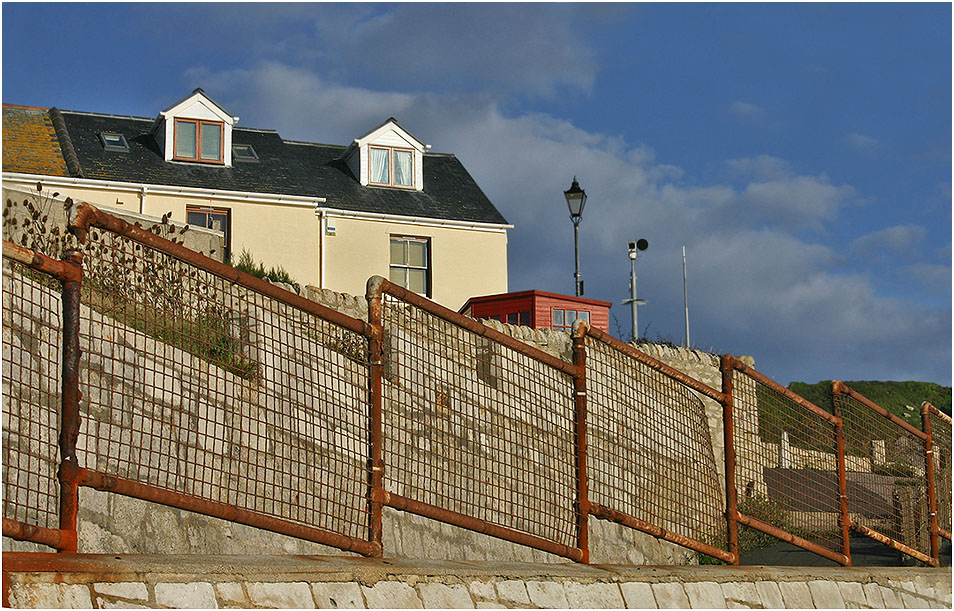 "photo ""House windows look at the sea"" tags: architecture, travel, landscape,"
