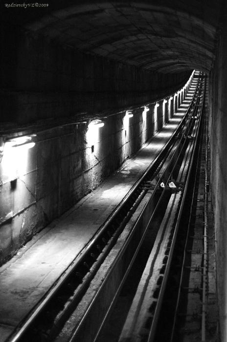 "фото ""Tunnel"" метки: черно-белые, разное,"