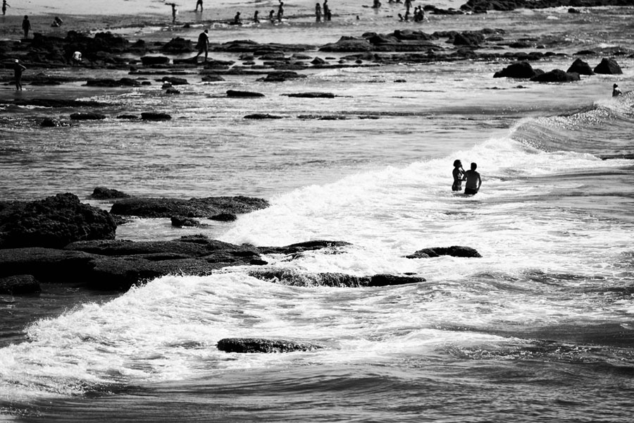 "photo ""Cascais"" tags: landscape, black&white, summer"