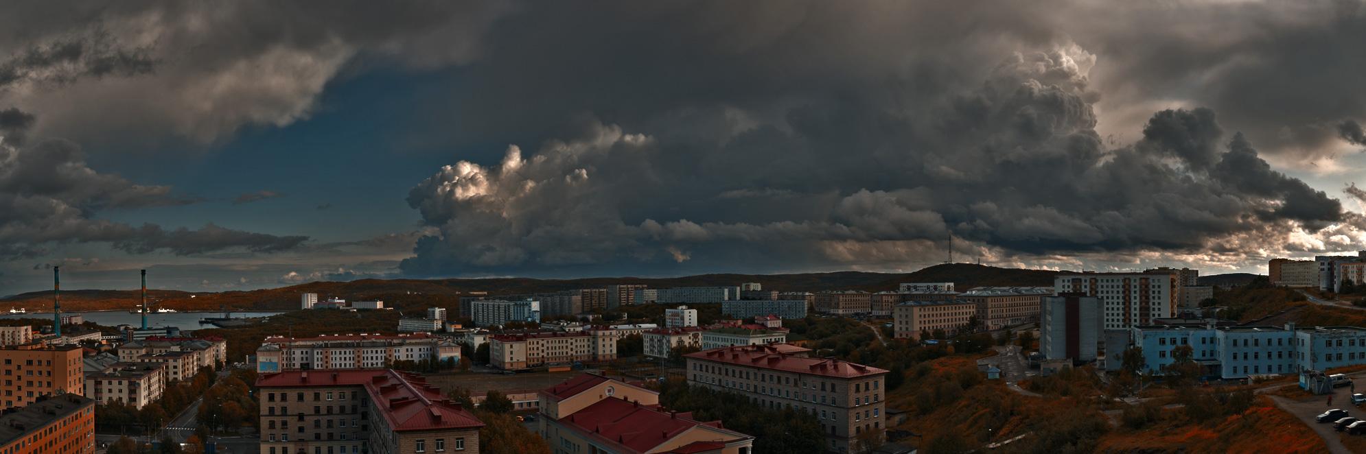 """photo """"Autumn storm"""" tags: landscape, autumn, clouds"""