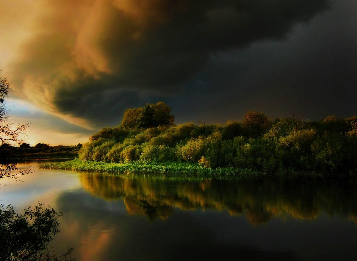 Пейзажи перед грозой картинки