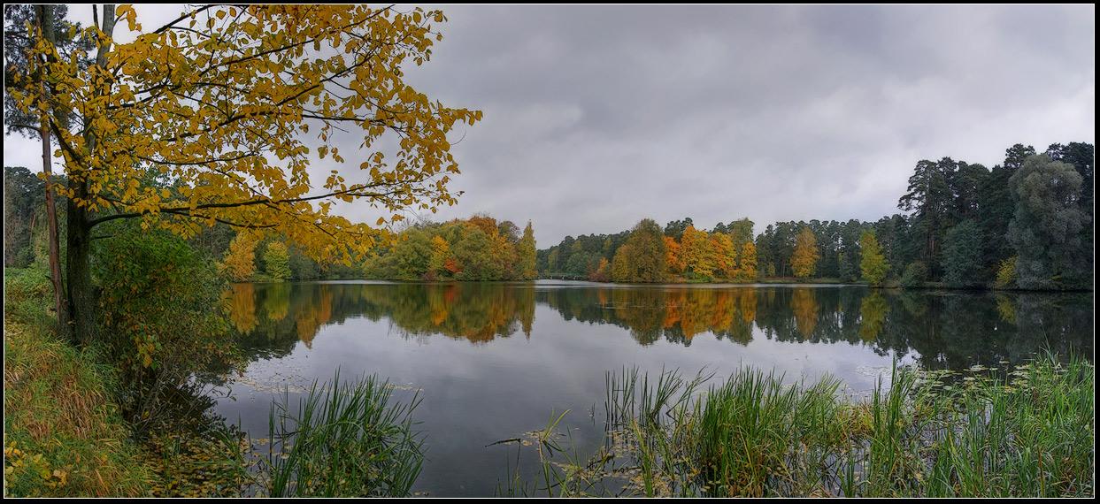 "photo ""Autumn panorama"" tags: landscape, autumn, water"