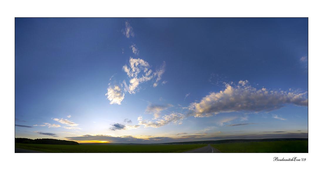 "фото ""Про небо"" метки: пейзаж, закат, облака"