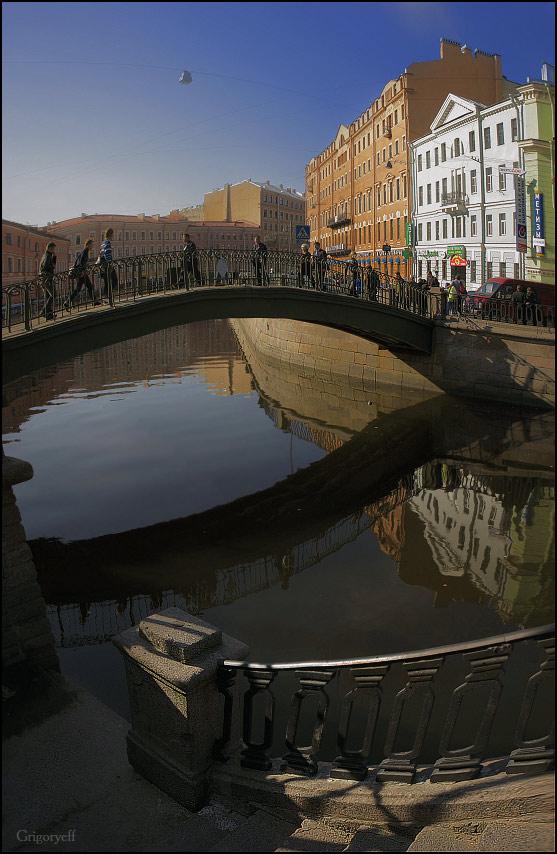 """фото """"Сенной мост. Спуск к каналу Грибоедова"""" метки: архитектура, пейзаж,"""