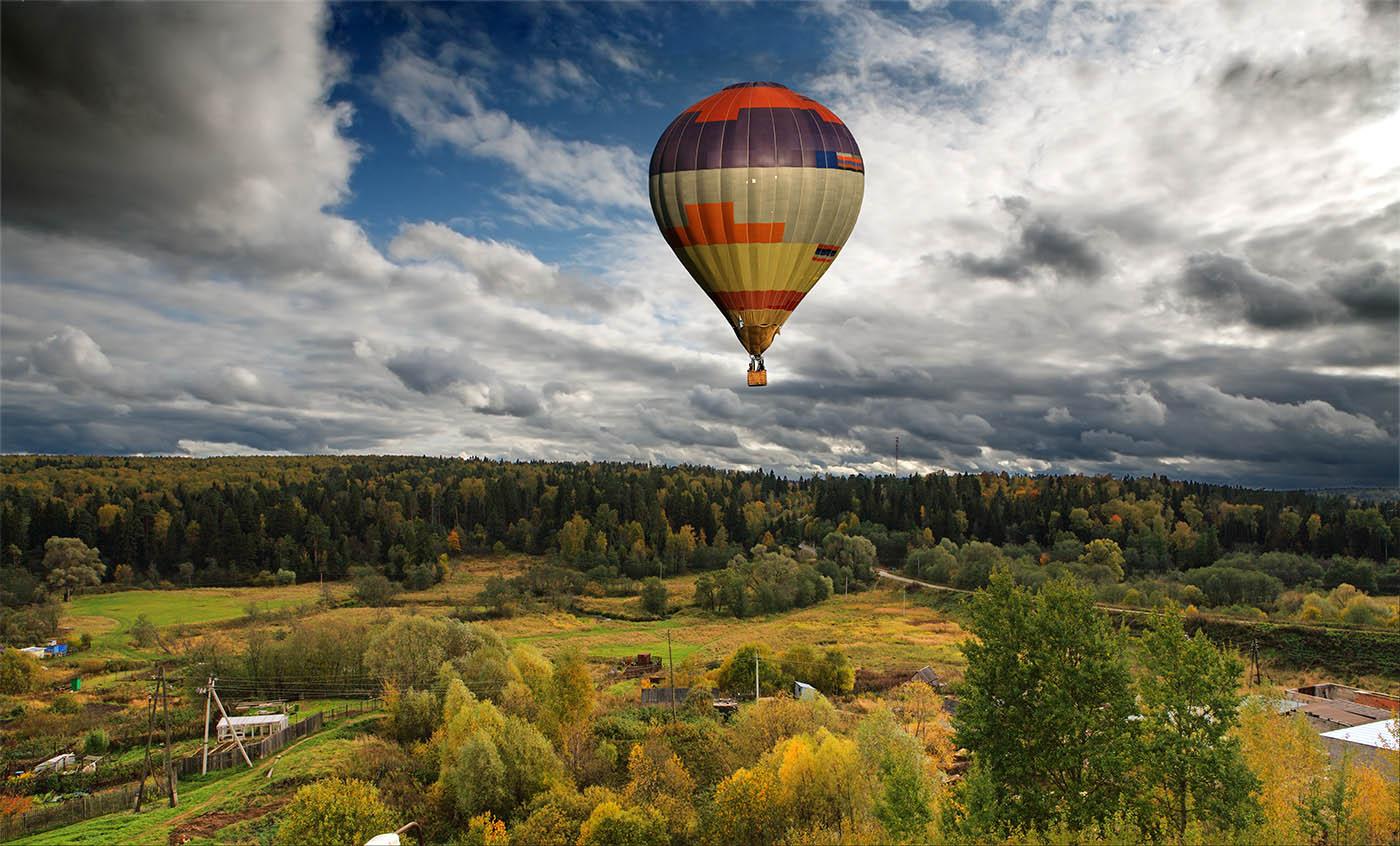 "фото ""Пролетая над хозблоками..."" метки: пейзаж, лес, осень"