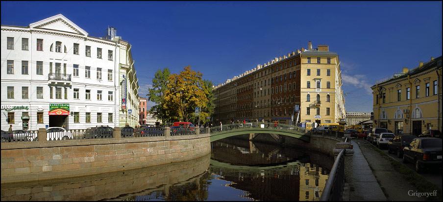 """фото """"Канал Грибоедова. Вид в сторону Сенного моста"""" метки: архитектура, пейзаж,"""