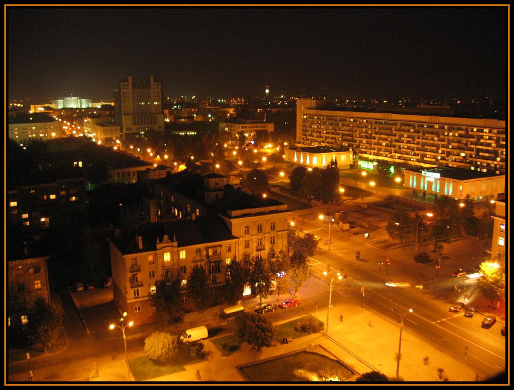"фото ""Могилев... Огни ночного города..."" метки: город, путешествия, Европа"