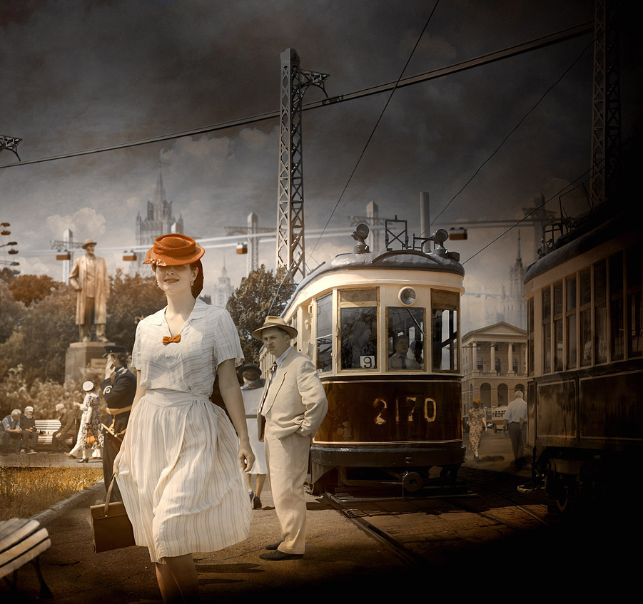 "фото ""Лето..."" метки: фотомонтаж, город,"