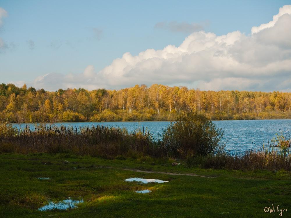 "фото ""У голубого озера"" метки: пейзаж, вода, осень"