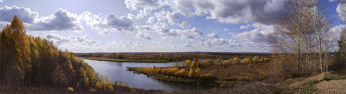 """фото """"Осень на берегах Томи"""" метки: пейзаж, вода, осень"""