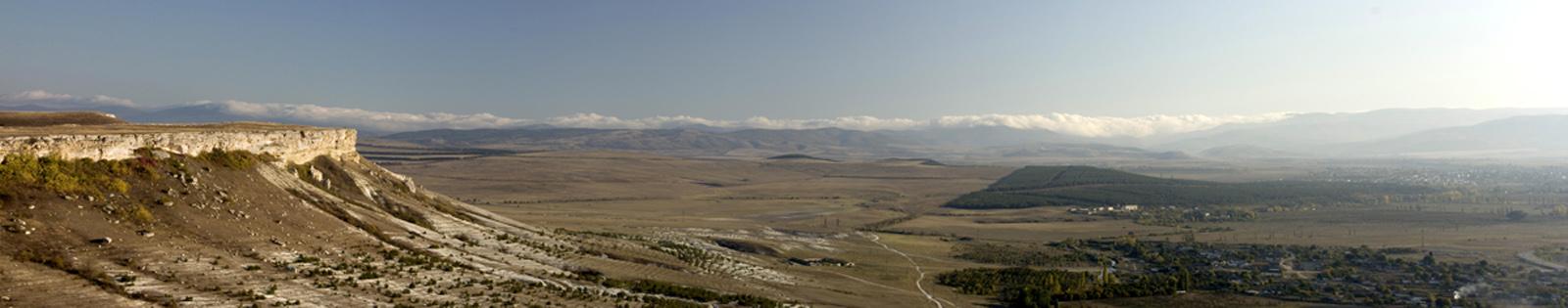 """фото """"Крым. Белогорский район. Вид с горы Акъ-Кая"""" метки: панорама, пейзаж, горы"""