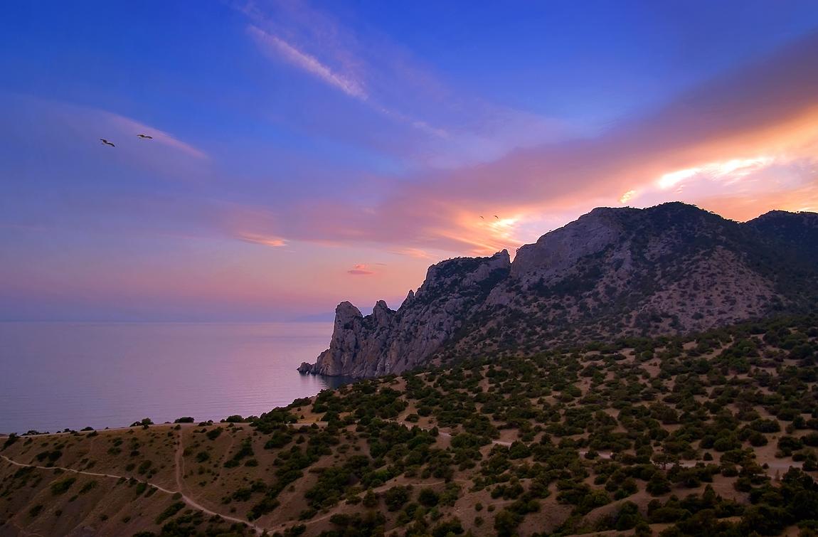 """фото """"Закат над Носорогом"""" метки: пейзаж, лето"""