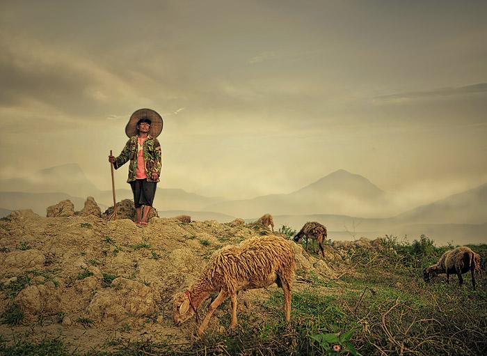 """фото """"Shepherd"""" метки: пейзаж, портрет, горы"""
