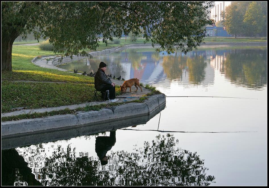 "фото ""осенняя рыбалка"" метки: пейзаж, город, вода"