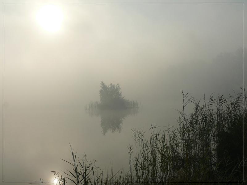 """фото """"Туманный рассвет"""" метки: пейзаж, вода, закат"""