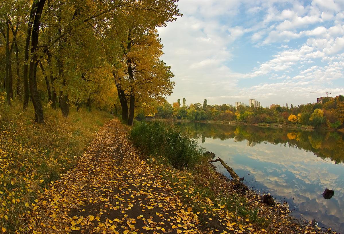 """фото """"В осеннем парке городском..."""" метки: пейзаж, город,"""