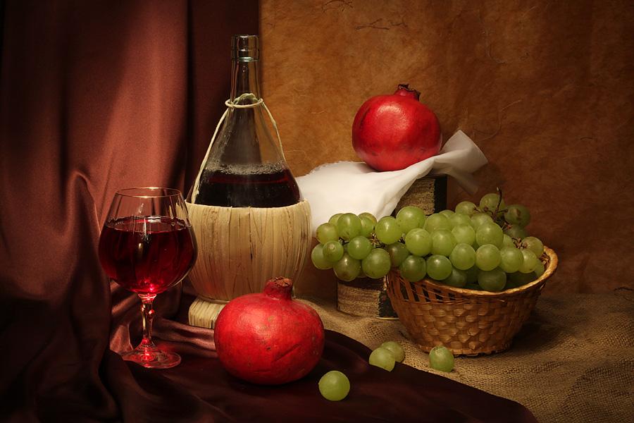 """фото """"Вино и гранаты"""" метки: натюрморт,"""