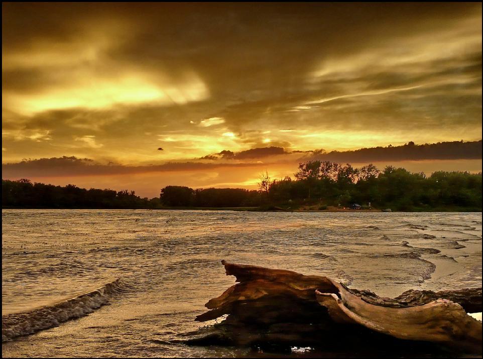 """фото """"Непогода"""" метки: пейзаж, вода, закат"""