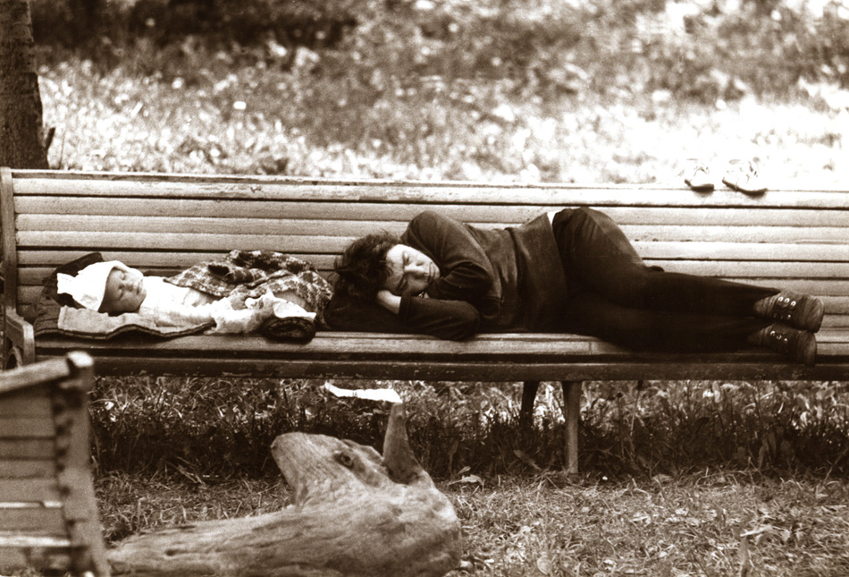 """фото """"Сон"""" метки: город, черно-белые,"""