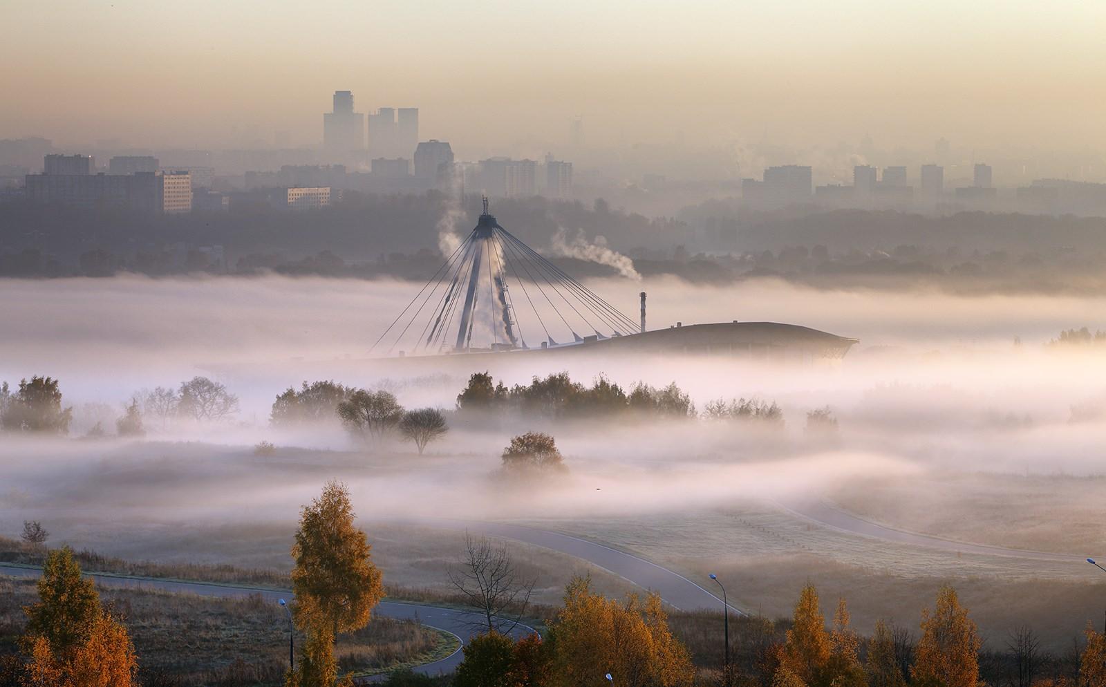 "фото ""Накрыло..."" метки: пейзаж, закат, осень"