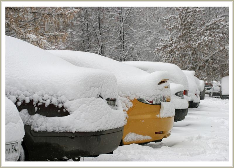 "фото ""А у нас во дворе... Обычное утро 25 октября 2009г"" метки: пейзаж, зима"