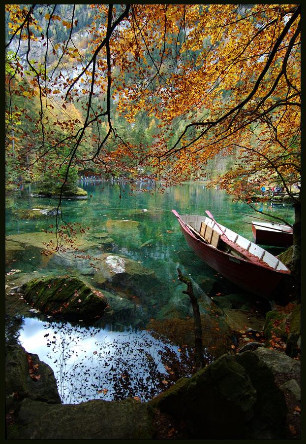 """фото """"Осень на Blausee"""" метки: пейзаж, вода, осень"""