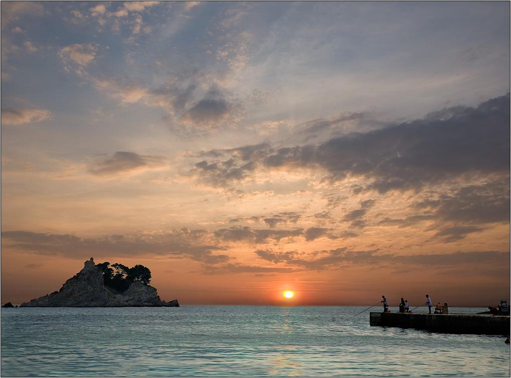 """фото """"Вечерняя рыбалка"""" метки: пейзаж, закат, лето"""