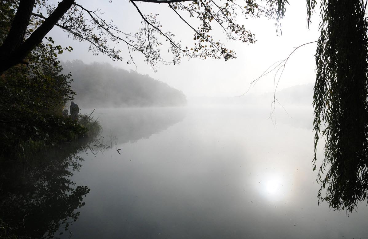 """фото """"Рыбацкое утро"""" метки: пейзаж, вода, осень"""
